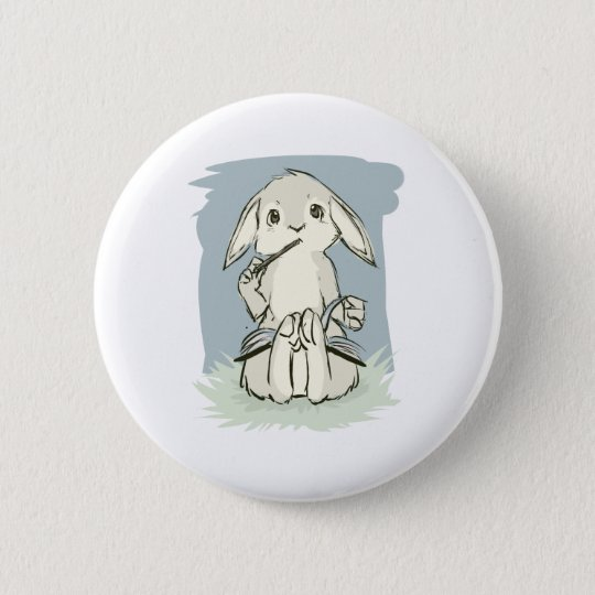 Writing Bunny Button