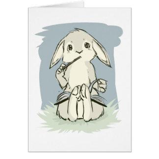 Writing Bunny Card