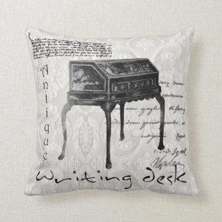 'Writing Desk' B&W Pillow