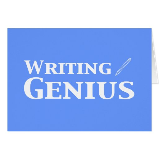 Writing Genius Gifts Card