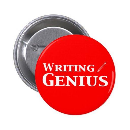 Writing Genius Gifts Pins