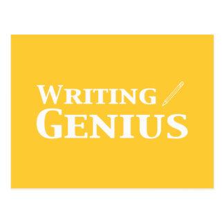 Writing Genius Gifts Postcard