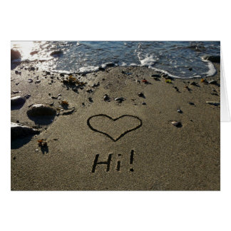 Writing in the Sand Greeting Card