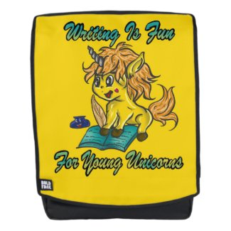 Writing Is Fun For Young Unicorns Backpack