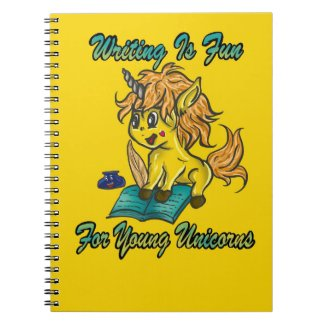 Writing Is Fun For Young Unicorns Notebook