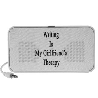 Writing Is My Girlfriend's Therapy Portable Speakers