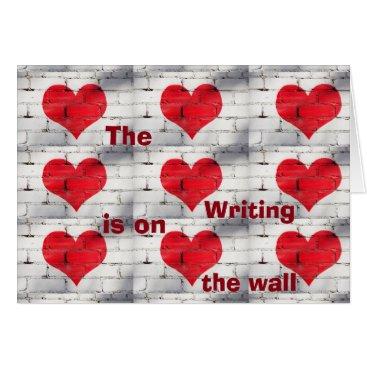 Halloween Themed **WRITING IS ON THE WALL** MY *HALLOWEEN LOVE* CARD