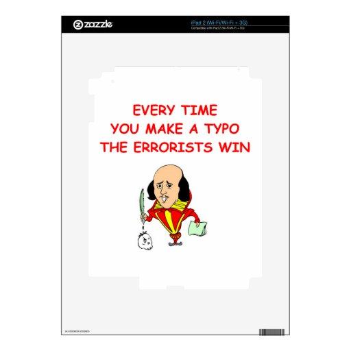writing joke iPad 2 decals