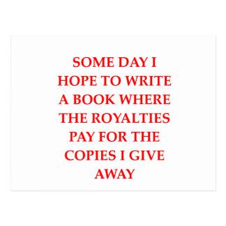 writing joke postcards