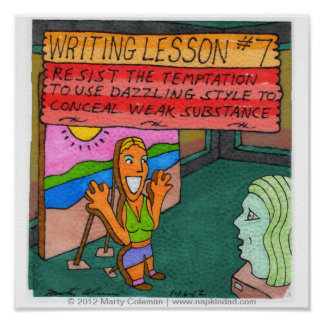 Writing Lesson #7 Poster