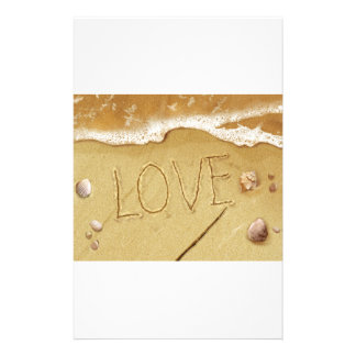 Writing Love In The Sand Stationery