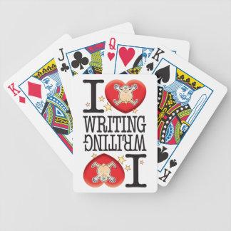 Writing Love Man Bicycle Playing Cards