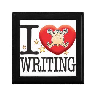Writing Love Man Keepsake Box