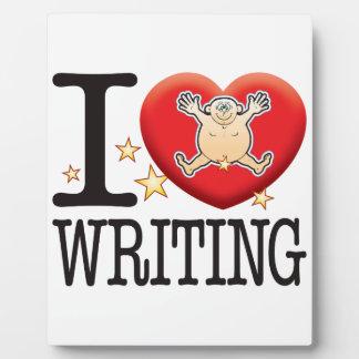 Writing Love Man Plaque