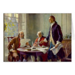 Writing of the Declaration of Independence Greeting Card