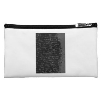 Writing once upon a time black silver kids story cosmetic bag