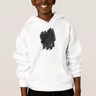Writing once upon a time black silver kids story hoodie