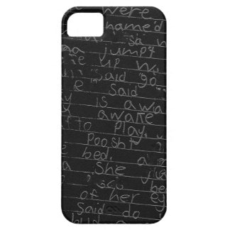 Writing once upon a time black silver kids story iPhone SE/5/5s case