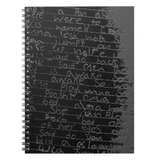 Writing once upon a time black silver kids story notebook