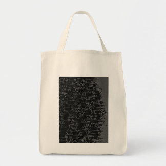 Writing once upon a time black silver kids story tote bag