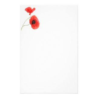 Writing paper poppy papelería personalizada