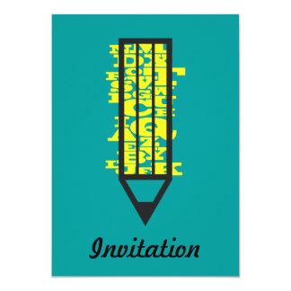 Writing Pencil Invitation