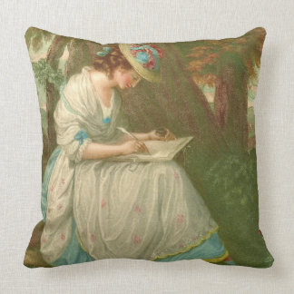 Writing Poetry 1781 Throw Pillow