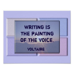 Writing quote - Voltaire print
