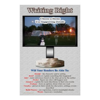 Writing Right Poster print