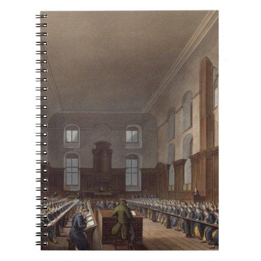 Writing School, Christ Hospital, from Ackermann's Spiral Note Books