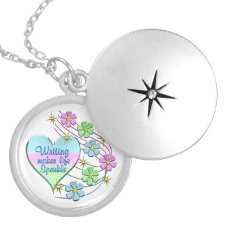 Writing Sparkles Silver Plated Necklace