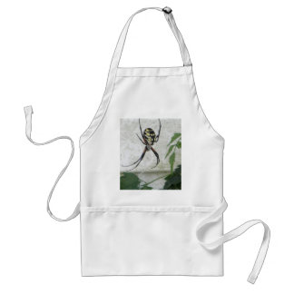 Writing Spider Black Yellow Garden Spiders Photo Adult Apron