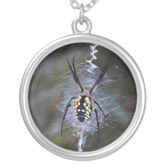 Writing Spider Sterling Silver Necklace