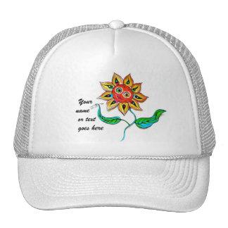 Writing Sunflower has Trucker Hat