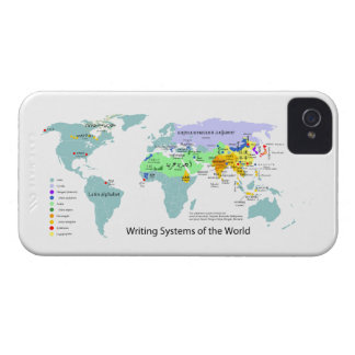 Writing Systems Map of the World Chart iPhone 4 Case-Mate Cases