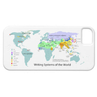 Writing Systems Map of the World Chart iPhone SE/5/5s Case