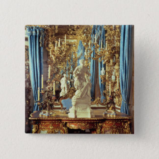 Writing table and statue of Louis XV Pinback Button