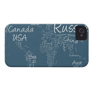 Writing Text Map of the World Map Case-Mate iPhone 4 Cases