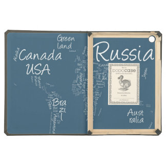 Writing Text Map of the World Map iPad Air Covers