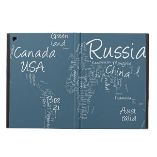 Writing Text Map of the World Map Case For iPad Air