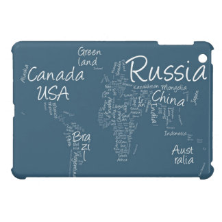 Writing Text Map of the World Map iPad Mini Case