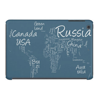 Writing Text Map of the World Map iPad Mini Cover