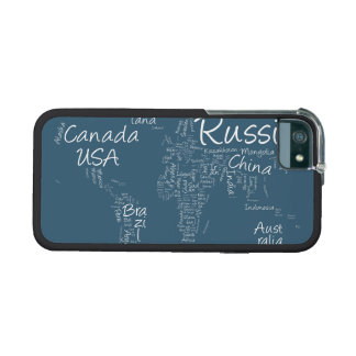 Writing Text Map of the World Map iPhone 5 Case