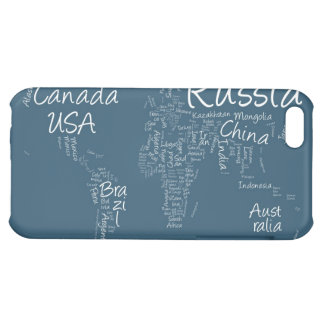 Writing Text Map of the World Map iPhone 5C Case
