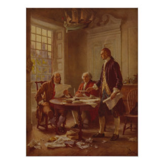 Writing the Declaration of Independence [1776] Poster