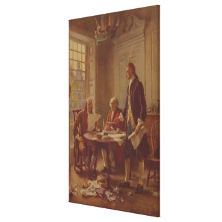 Writing the Declaration of Independence by Ferris Canvas Print