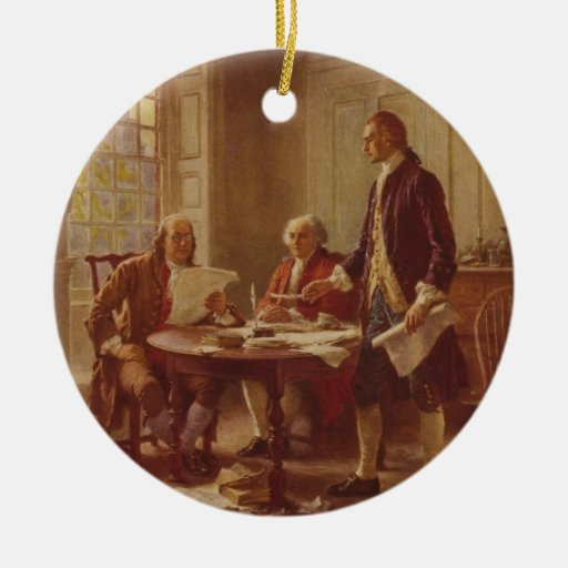 Writing the Declaration of Independence by Ferris Christmas Tree Ornament