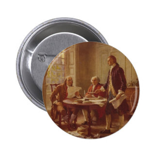Writing the Declaration of Independence by Ferris Pinback Button