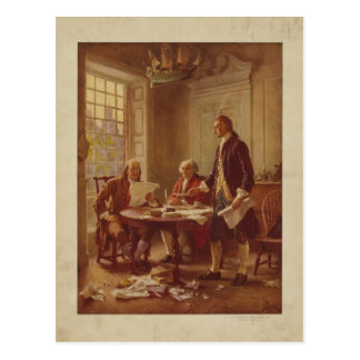 Writing the Declaration of Independence by Ferris Postcard