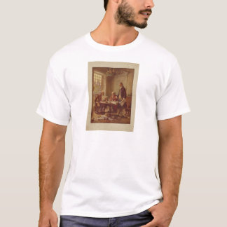 Writing the Declaration of Independence by Ferris T-Shirt